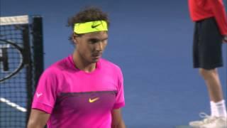 Rafa Nadal's Mid-Match Giggles | Australian Open 2015