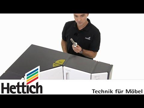 Construction de meubles: armoires d'angle avec charnièresW de Hettich
