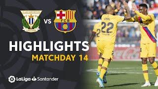 Highlights CD Leganes vs FC Barcelona (1-2)
