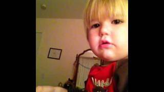 Cute Baby Sings The Christmas Song.MOV
