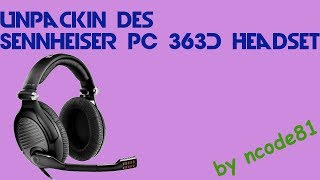 Sennheiser PC 363D [Gaming Headset][german/deutsch][Unpacking]