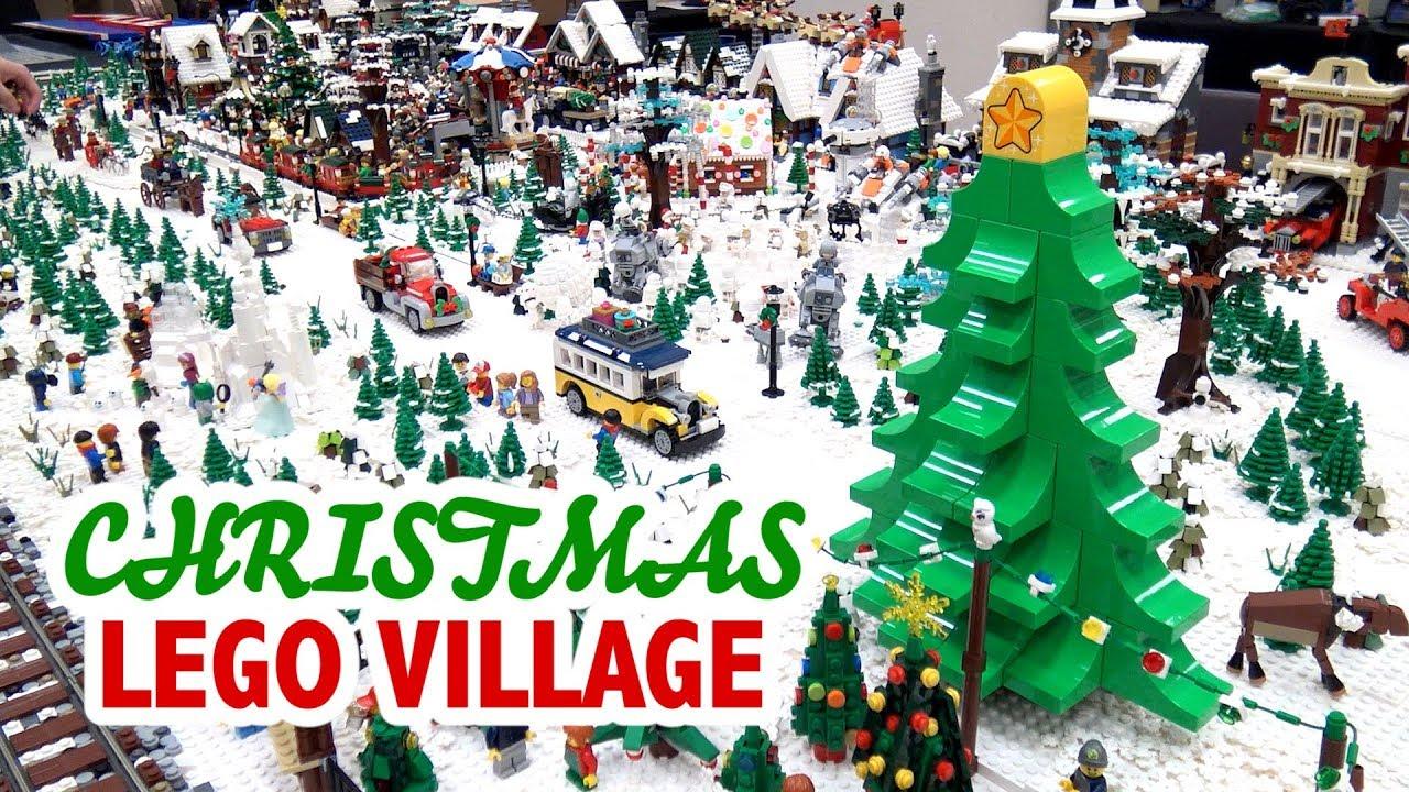 Huge LEGO Winter Christmas Village   BrickCon 2018