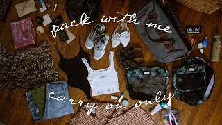 PACK WITH ME 🧳 two weeks in a carry-on bag