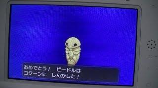 コクーン  - (ポケットモンスター) - 3DSポケットモンスターXビードルからコクーンに進化