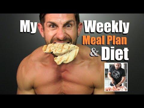Get LEAN & Build MUSCLE Diet Plan   My Weekly Meal Plan & Prep   Alpha M. Diet VLOG