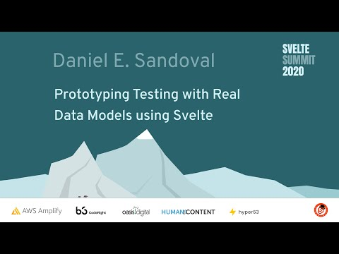 Image thumbnail for talk Prototyping Testing with Real Data Models using Svelte