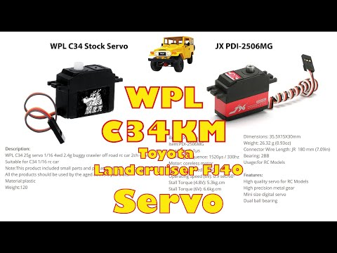 JX PDI-2506MG: Perfect Upgrade Servo for WPL C34 Landcruiser FJ40 RC-Car