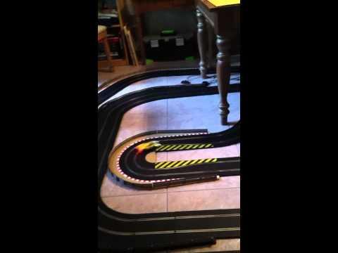 Home Scalextric (1/32) Slot Car Track with Ferrari 330P4.
