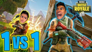 1 VS 1 FORTNITE BATTLE (Loser does DARES)