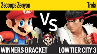 LTC3 Smash4 - 2scoops Zenyou (Mario) vs Trela (Ryu) - Winners Bracket