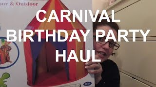 Carnival Birthday Party|HAUL|Living The Mummy Life