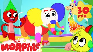 Magic Colors! Morphle The Paint Brush Colors the world! Learn color video for kids!