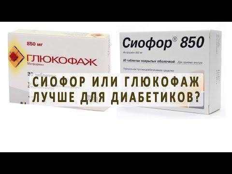 Какой из препаратов Сиофор или Глюкофаж лучше для диабетиков?