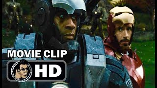 IRON MAN 2 Movie Clip - Tony Stark and War Machine (2010) Robert Downey Jr Marvel Superhero Movie HD