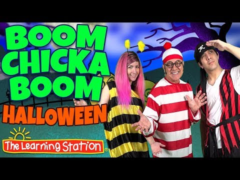 Boom Chicka Boom Halloween Song 👻 Halloween Dance Songs for Kids 👻 by The Learning Station