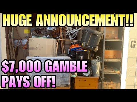 , title : '$7000 STORAGE! HUGE ANNOUNCEMENT!  I bought an abandoned storage unit!