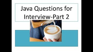 Java Interview Questions and Answers for Freshers | Java Tutorial