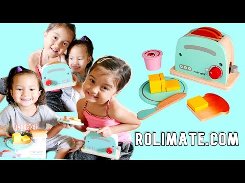 Unboxing FREE Toy for Kids | ROLIMATE WOODEN TOASTER SET | Fil-Am family Vlog