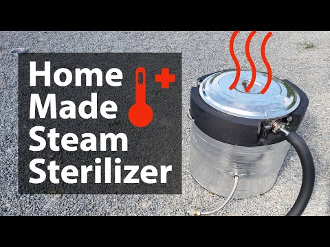 High pressure steamer / pasteurizer in full blash steaming