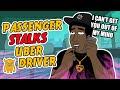 Crazy Passenger Stalks Uber Driver (COPS CALLED)