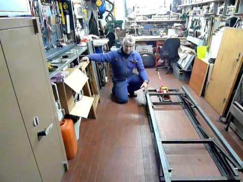 Ponte sollevatore per moto di grossa cilindrata - lavoro in corso