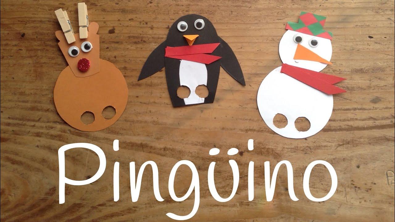 MANUALIDADES DE PINGÜINOS para niños | Adornos caseros para el árbol de navidad