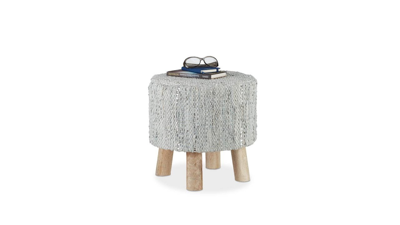hocker grau mit echtleder kaufen. Black Bedroom Furniture Sets. Home Design Ideas