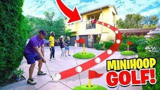INSANE 2HYPE Mansion Mini-Golf TRICKSHOT BASKETBALL