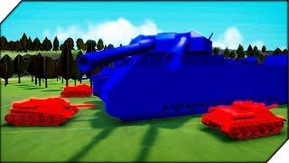 ОГРОМНЫЙ НЕМЕЦКИЙ СУПЕР ТАНК. Компания за СССР # 3 - Игра Total Tank Simulator Demo 4 прохождение