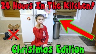 24 Hours In The Kitchen Christmas Edition! 24 Hours With No LOL Dolls! The Doll Maker Was There!