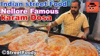 indian street food II  Nellore karam dosa @ Nellore city #streetfoody