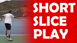 Short Ball Slice Play   PLAYS AGAINST PUSHERS