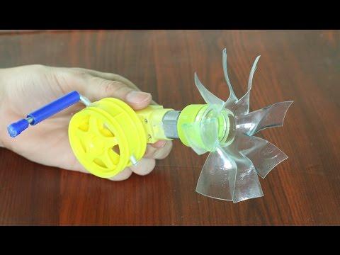 Como hacer un ventilador de manivela