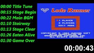 ロード ランナー (ニンテンド ファミリーコンピュータ) 音楽 / Lode Runner (NES) Music / Soundtrack