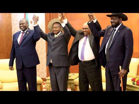 South Sudan's Salva Kiir and main rebel group sign final power-sharing deal