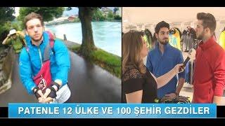 Kanal D Ana Haber Bülteni - Bora Güngör Röportaj (Paten İle Avrupa Turu)