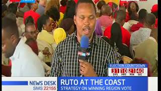 DP Ruto woos Coast residents ahead of the repeat presidential elections