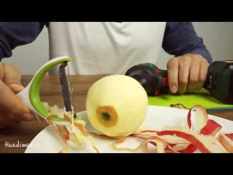 Peel an Apple with a Power Drill!
