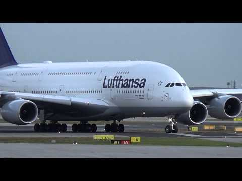 Lufthansa A380 Landing & Takeoff At Frankfurt Airport Mp3