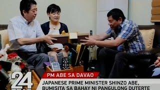 Japanese Prime Minister Shinzo Abe, bumisita sa bahay ni Pangulong Duterte