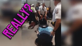 Cop dumps DISABLED person out of wheelchair?