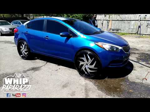 "Kia Forte on 24"" Starr Phantom Wheels Lifted by Kc Customs"