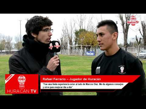 """Ferrario: """"Me pone contento trabajar con Marcos Díaz"""""""