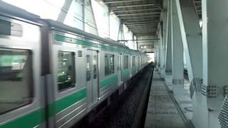 埼京線205系りんかい線新木場駅到着