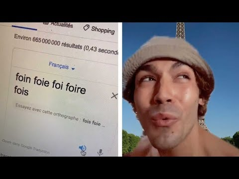 Guy Pokes Fun At French Language