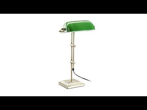 Bankerlampe grün