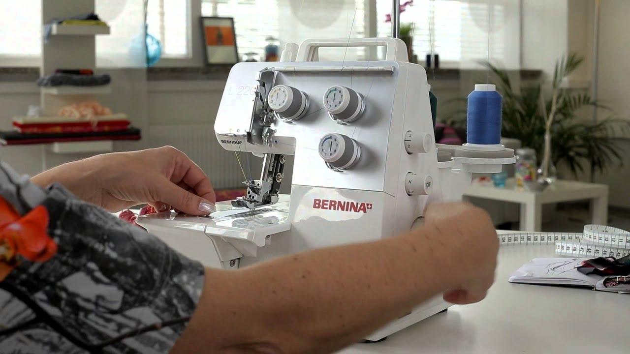 BERNINA Overlocker L 220: Заправка нитей для плоских распошивальных швов