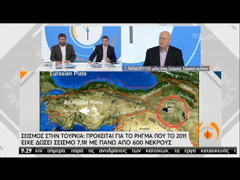 Γ. Παπαδόπουλος: Καμία γεωδυναμική σχέση των σεισμών στην Τουρκία με τον ελληνικό χώρο 24/02/20 EΡΤ