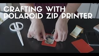 DIY Holiday Gift Tags With Polaroid Zip