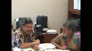 Jason with Dr. Lorrin Pang, Director of Dept. of Health on Maui in 2007 speaking about Depleted Uranium.